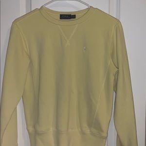 xs yellow polo sweater